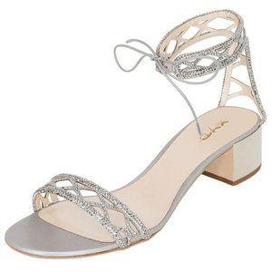 XYD Elegant Open Toe Ankle Strap Block Low Heel S